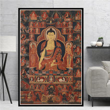 Poster do Filme Clássico do Budismo Buda Sakyamuni Thangka Impressões Pintura A Óleo Da Lona Arte Da Parede Fotos de Sala de estar Decoração de Casa