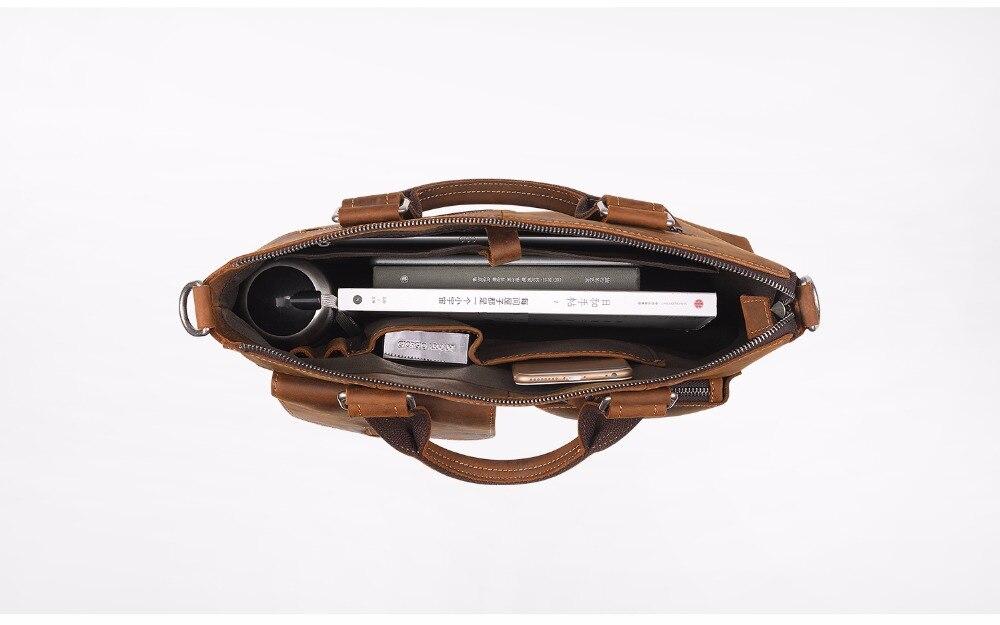 Joyir 2017 Laptop Bag Mens Handbag Genuine Leather Handbag Business Bag Shoulder Bag Crossbody Travel Bolsos Maletin Hombre B260