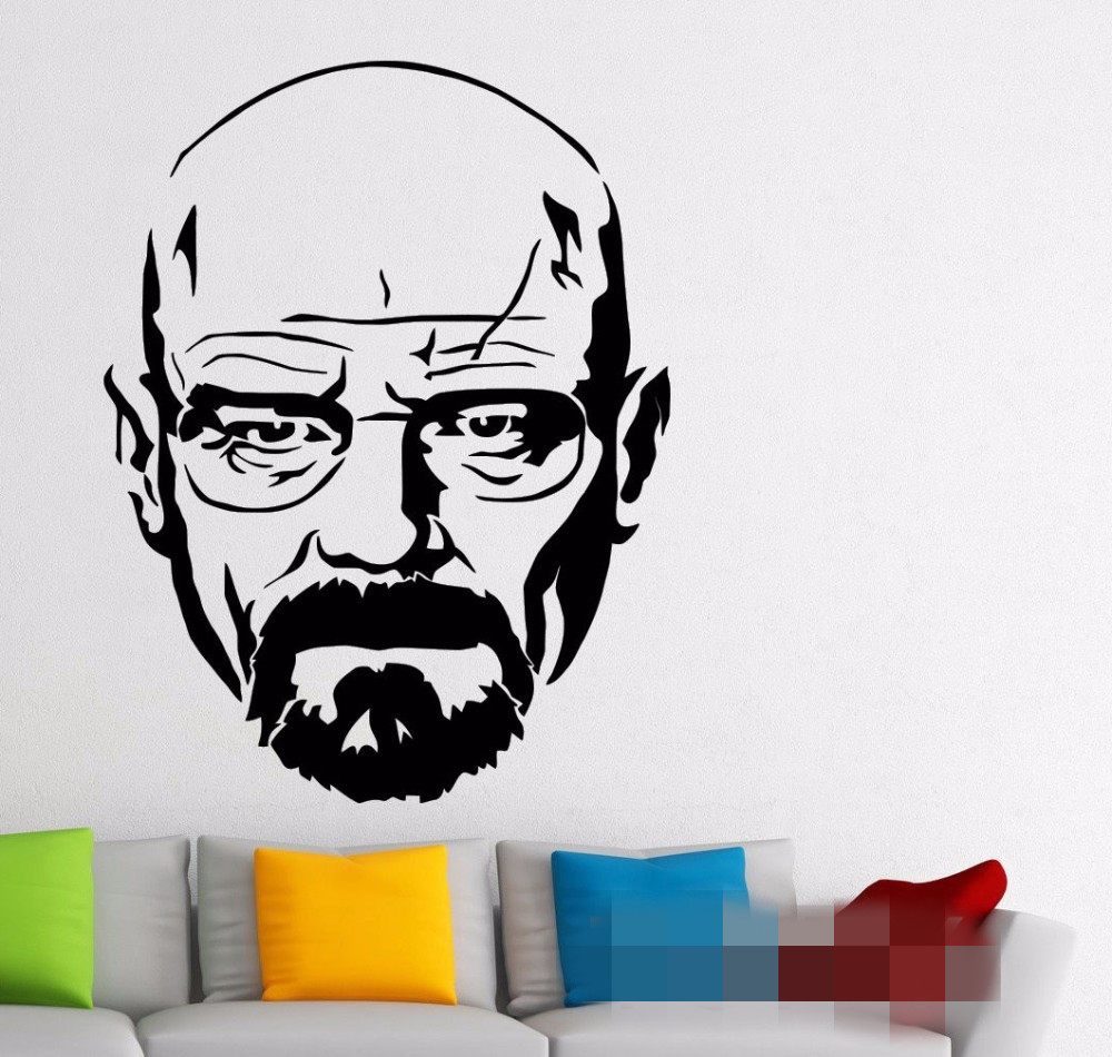 Free shipping breaking bad walter white wall decal vinyl sticker free shipping breaking bad walter white wall decal vinyl sticker heizenberg movie mural dorm teen room home interior decor in wall stickers from home amipublicfo Choice Image