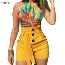 NIBESSER Новые Летние Женские однотонные шорты сексуальные женские с высокой талией повседневные бандажные пляжные шорты для женщин размера плюс S-5XL