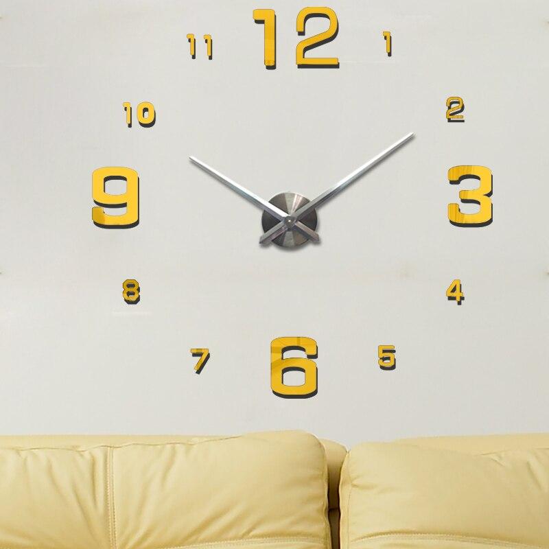 Online Get Cheap Large Mirrored Wall Clocks Aliexpresscom