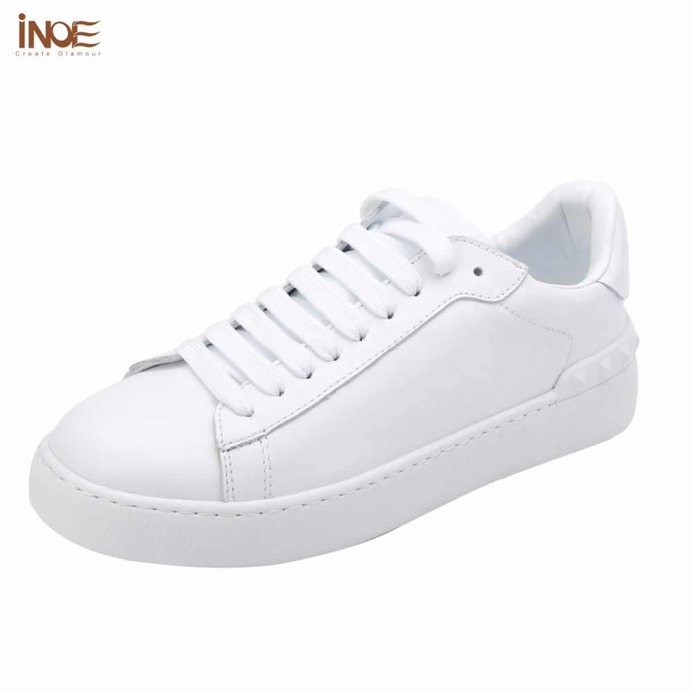 INOE 2017 fashion style men autumn sneakers casual shoes flats real genuine cow leather lace up loafers leisure shoes for men glowing sneakers usb charging shoes lights up colorful led kids luminous sneakers glowing sneakers black led shoes for boys
