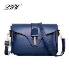 2016 New Vintage Women Messenger Bag  PU Leather Solid Crossbody Bags for Women Shoulder Bags Girl Versatile borsa