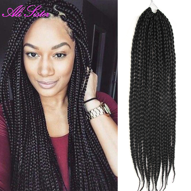 Long Soft Box Braids Hair Xpression Braiding Extension Top Crochet Wavy Synthetic Senegal