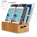 Bamboo Charging  5V 10A 6 USB Ports Charger US EU UK AU Type Adapter Multiple USB Device Charging Dock Stand Fast Charger