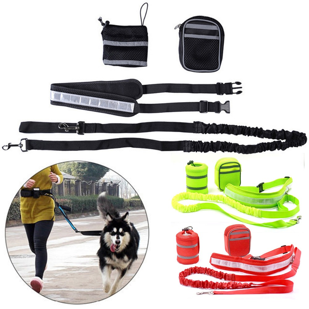 Home Smart Pet Sports Kit Cat Dog Hands Free Nylon Elastic Dog Leash Lead Strap Rope Waist Belt For Walking Running Accesories Kits