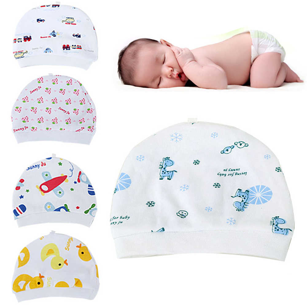 Cartoon Pattern Baby Hats Soft Comfortable Cotton Elastic Beanies Winter Warm Girl Boy Toddler Infant Kids Cute Hat
