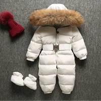 Детские комбинезоны 2018 Рождество одежда зимняя Толстая костюм для мальчиков для девочек теплый зимний детский комбинезон детская верхняя
