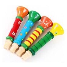 Орф красочные деревянные цвет восприятие музыки раннего детства обучающие игрушки оптом рог инструмент
