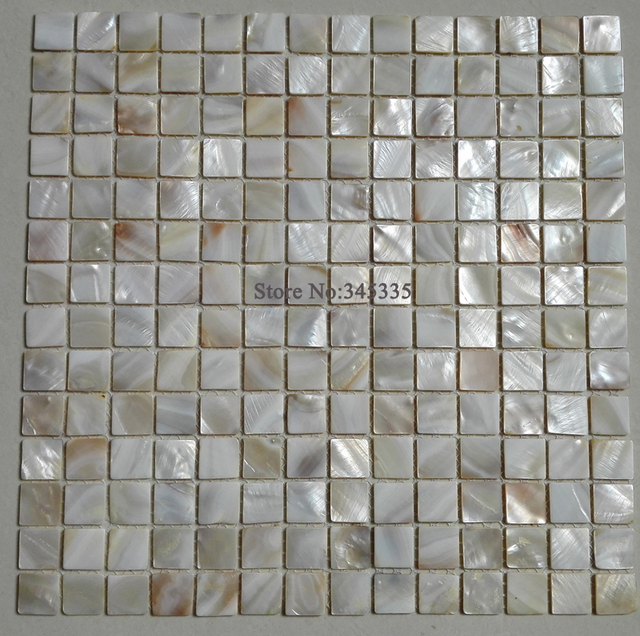 11 Quadratmeter Natürliche Weiße Quadrat Shell Mosaik Fliesen Perlmutt Küche  Backsplash Dusche Hintergrund Badezimmer Tapete