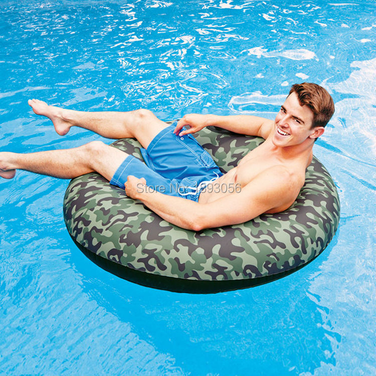 Superb Adult Camouflage Swimming Tube Water Sport 0.40mm Thickened 2 Air Chamber  Safety Inflatable Swimming Pool Floats Ring Life Buoy In Water Play  Equipment From ...