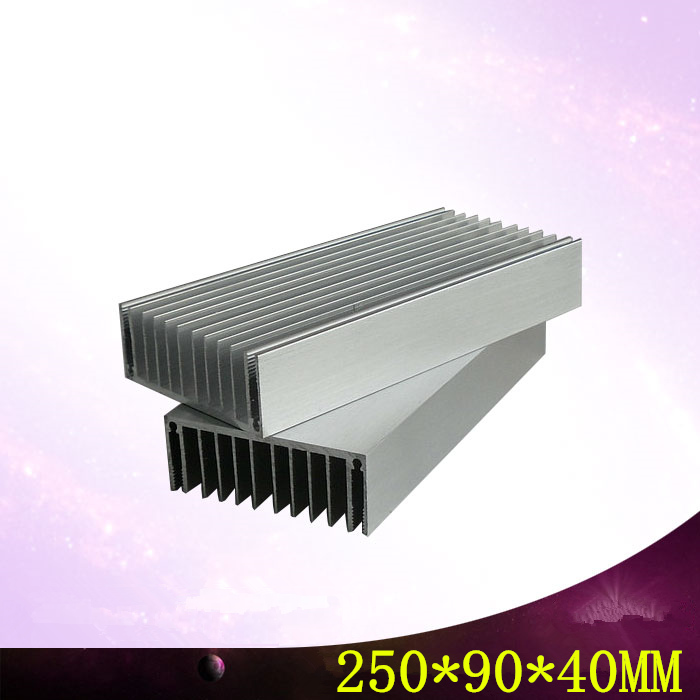 250*90*40mm high quality For Electronic components speakers computer aluminum radiator fins Heat sink,Can be customized 2pieces lot 100x28x6mm aluminum heat sink for computer electronic