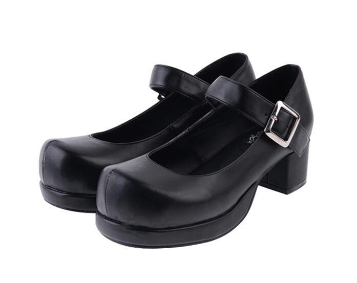 Mujeres Negro Cosplay 47 Las Señora Lolita Imprimir 33 De La 4 Fiesta Cm Angelical Tacones blanco Vestido Mujer rojo Zapatos Chica Princesa 5 Mori SPxXq1