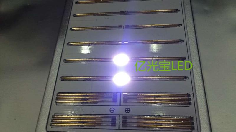 100Pcs/lot LED SMD LCD TV back light source 7020 Cool white double chip 1W 3V SBHBE2SOE