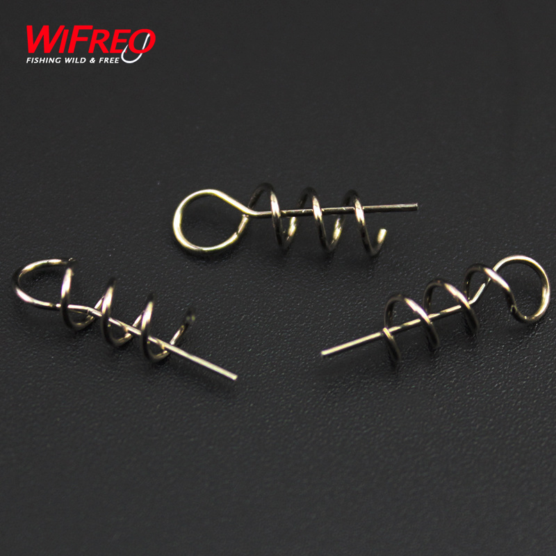 50PCS New Wifreo Soft Lure Loader / Locker Connector Fishing Worm Hook Centering Pin S Bait Accessories for Bass Fishing 50pcs new wifreo soft lure loader locker connector fishing worm hook bait accessories for bass fishing wholesale
