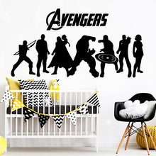 Fashionable avengers Wall Sticker Pvc Removable For Baby Kids Rooms Decor Waterproof Art Decal