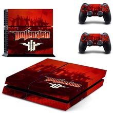 цена на Wolfenstein PS4 Skin Sticker Decal Vinyl for Sony Playstation 4 Console and 2 Controllers PS4 Skin Sticker