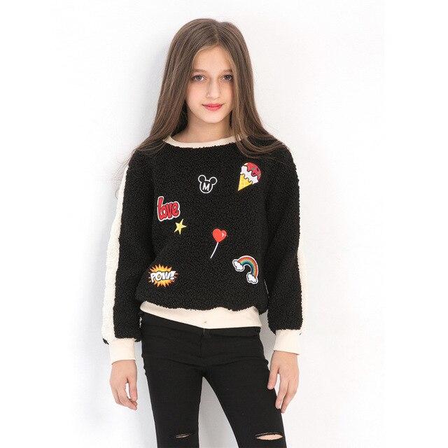 Big Girls Sweatshirts 2018 Winter Spring Autumn kids long sleeves Cartoons Child hoodies Casual Outwear girls Clothing 5-14Years