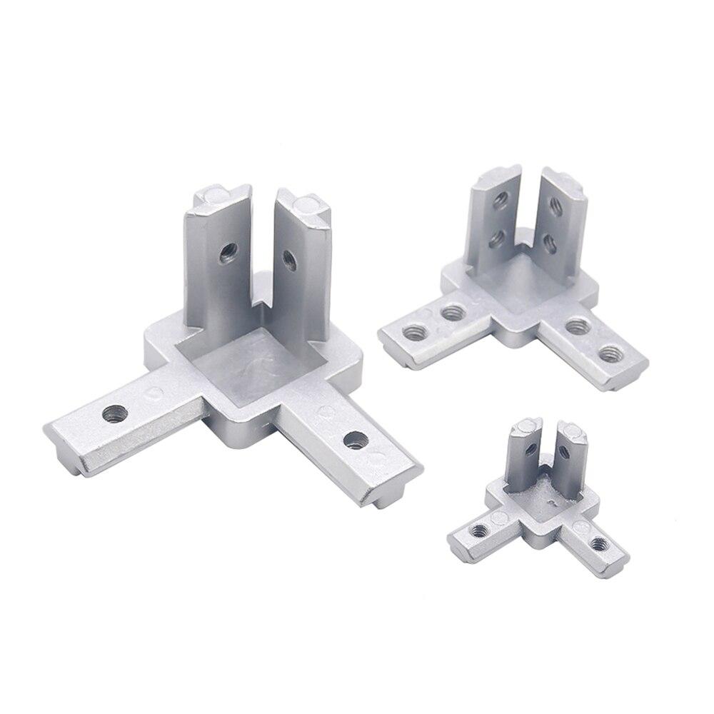 L tipo suporte 2020 Escondido 3 3-dimensional-way canto conector padrão DA UE série 20/30 Perfil De Alumínio Acessórios