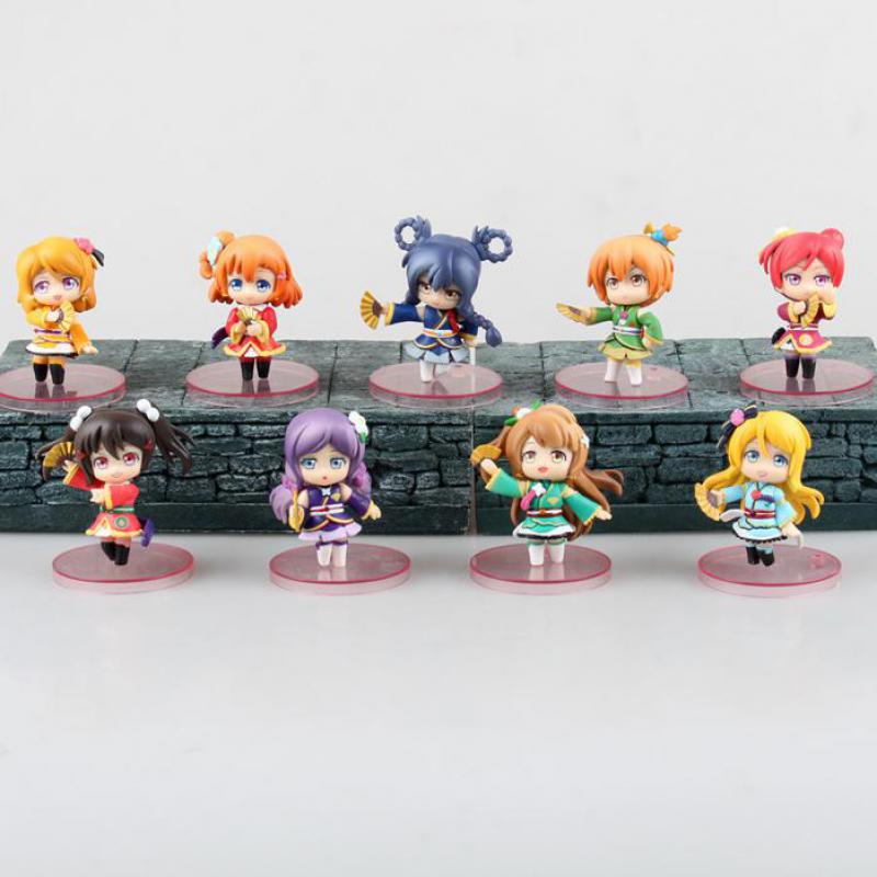 Love Live! School Idol 9pcs/set Action Figure Toys Collection Christmas Gift With Box Pvc Model Collection Japanese Anime