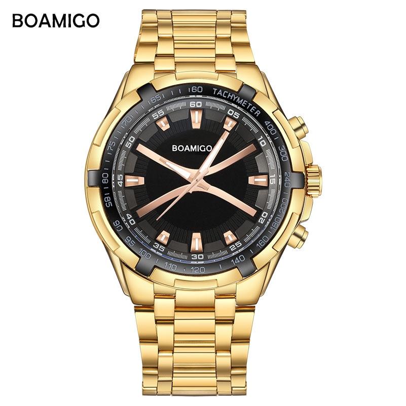 BOAMIGO márka férfi kvarcóra luxus férfi ruha divat sport órák - Férfi órák