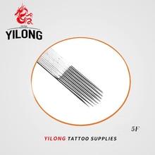 50 шт(5F) профессиональные иглы татуировки плоские одиночные стерилизовать иглы татуировки медицинская нержавеющая сталь Материал
