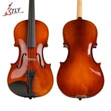 TONGLING Oil Varnish Solid Wood Acoustic Violin Violino for Students Beginner Kids w/ Case Mute Bow Strings Shoulder Rest