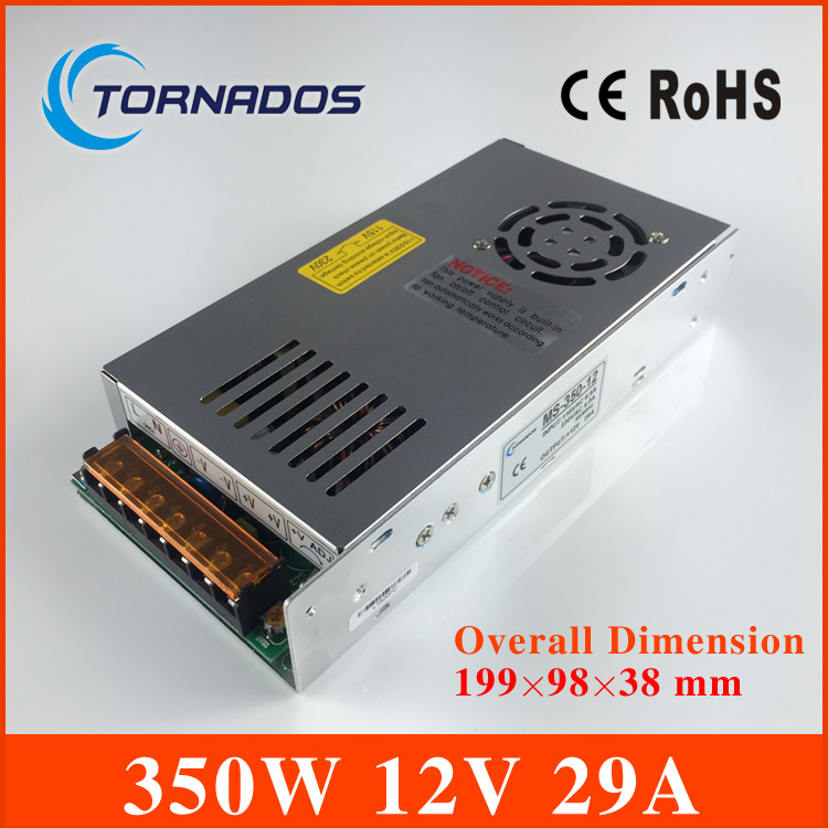 MS-350-12 High Quality Small size LED switching power supply 12V 29A 350W Small volume LED light strip Display free shipping 20pcs 350w 12v 29a power supply 12v 29a 350w ac dc 100 240v s 350 12 dc12v