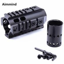 цена на Hunting Accessories Picatinny Rail 4''Tactical Handguard Rail System AR-15 M16 M4 Handguard
