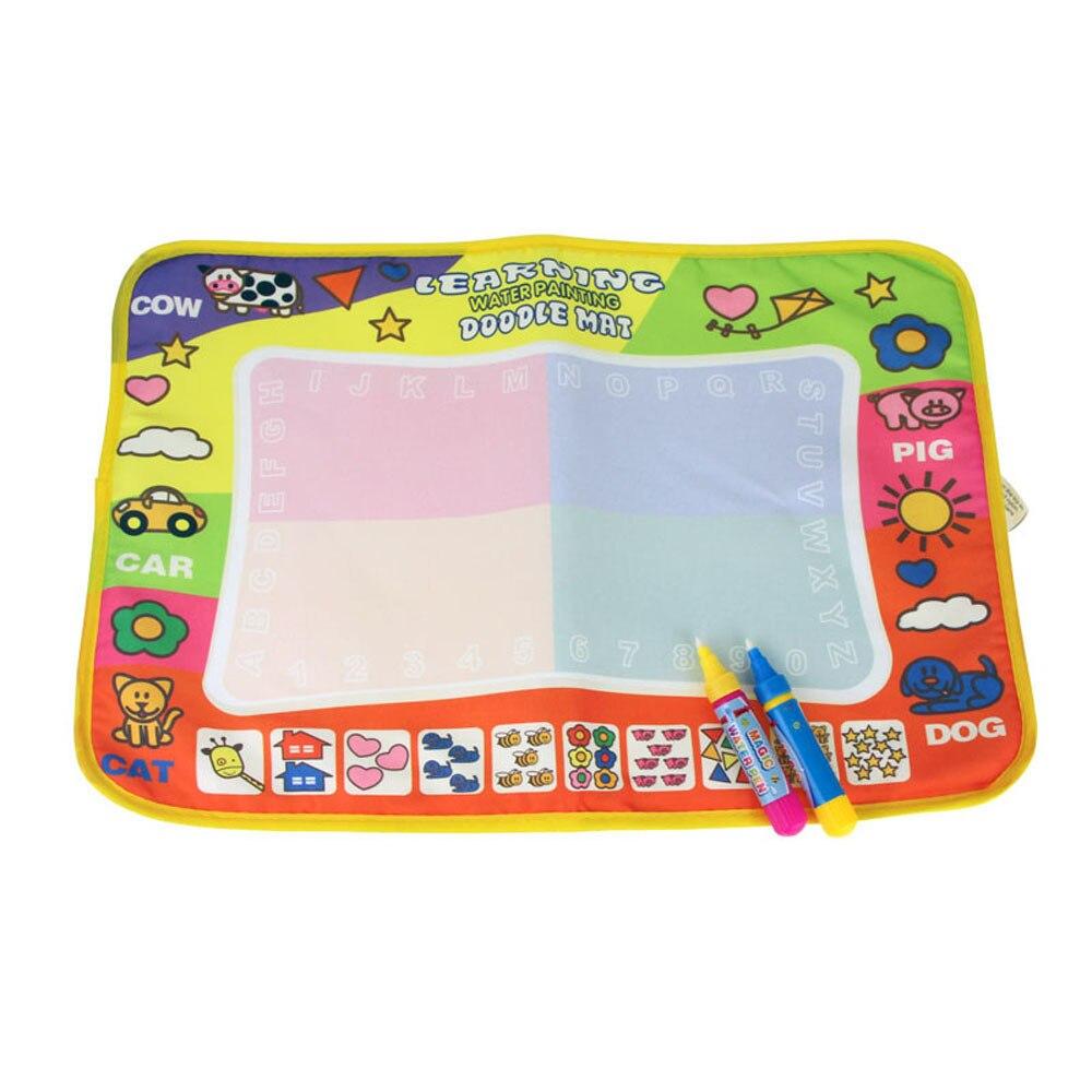 Лидер продаж Детские Чертёжные доски Аква Doodle детская одежда Игрушки для рисования Коврики Волшебное перо образования игрушки 1 Коврики + 2 ...
