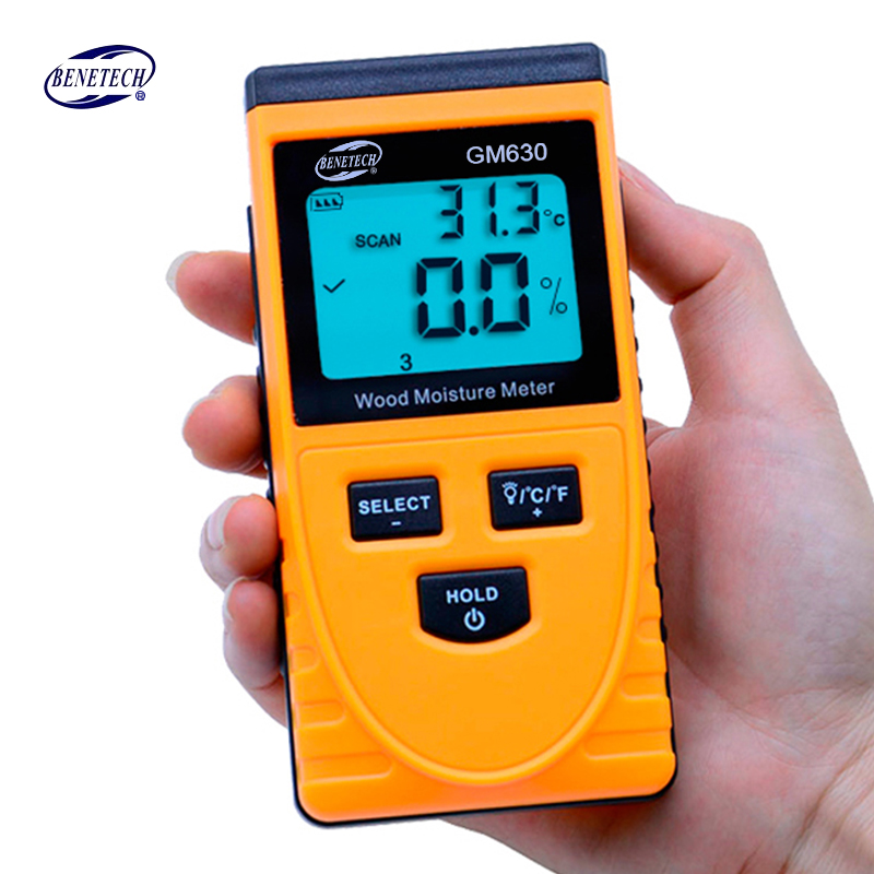 Digital LCD Display Induction Wood Moisture Meter Wood moisture content meter Wood Moisture tester 0~50% GM630 цена