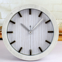 Retro Pastoralism European Style Creative 12 Black Sticks Desk Clock White Table Alarm Clock Silent Clock