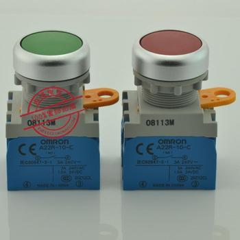 [ SANY ]Genuine  22mm metal ring flat buttons A22R-F *-10A 1NO self-locking A22R-F *-10M self-resetting --10PCS/LOT