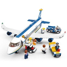 sluban 0366 483pcs Plane City Construction Bricks Building Blocks Sets Aviation Series Airbus Aircraft  Compatible with legoe