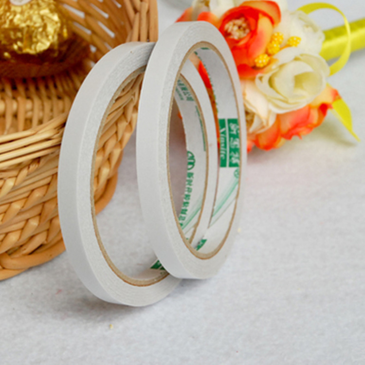 2Pcs/Lot New Slim Strong Adhesion 8mm X 12m Double Sided Sticky Tape White Powerful Doubles Faced Adhesive Tape Office E0355