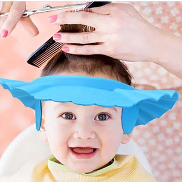 Suave ajustable de los niños del bebé champú baño gorra de ducha champú para  niños a ad2d1e362f2