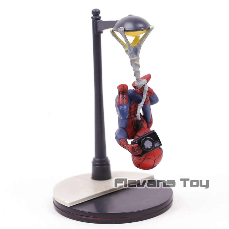Marvel Spiderman Action Figure Quantum Mechanix Spider Cam Q-Fig Kid Toy  Gift