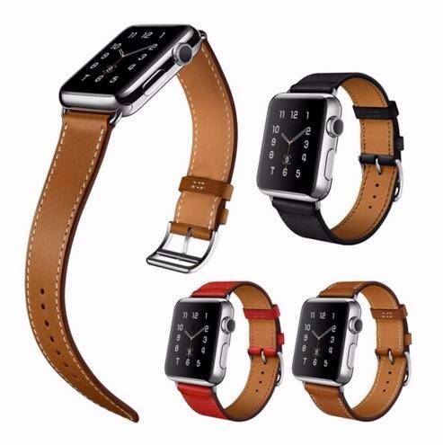 Genuine Leather Bracelet Watch Strap For Apple Watch Single Tour Band 38mm 42mm 40mm 44mm,For iwatch strap series 4 3 2 1 leather strap for apple watch 38 42mm 40 44mm single double tour genuine replacement leather band for iwatch series 1 2 3 4