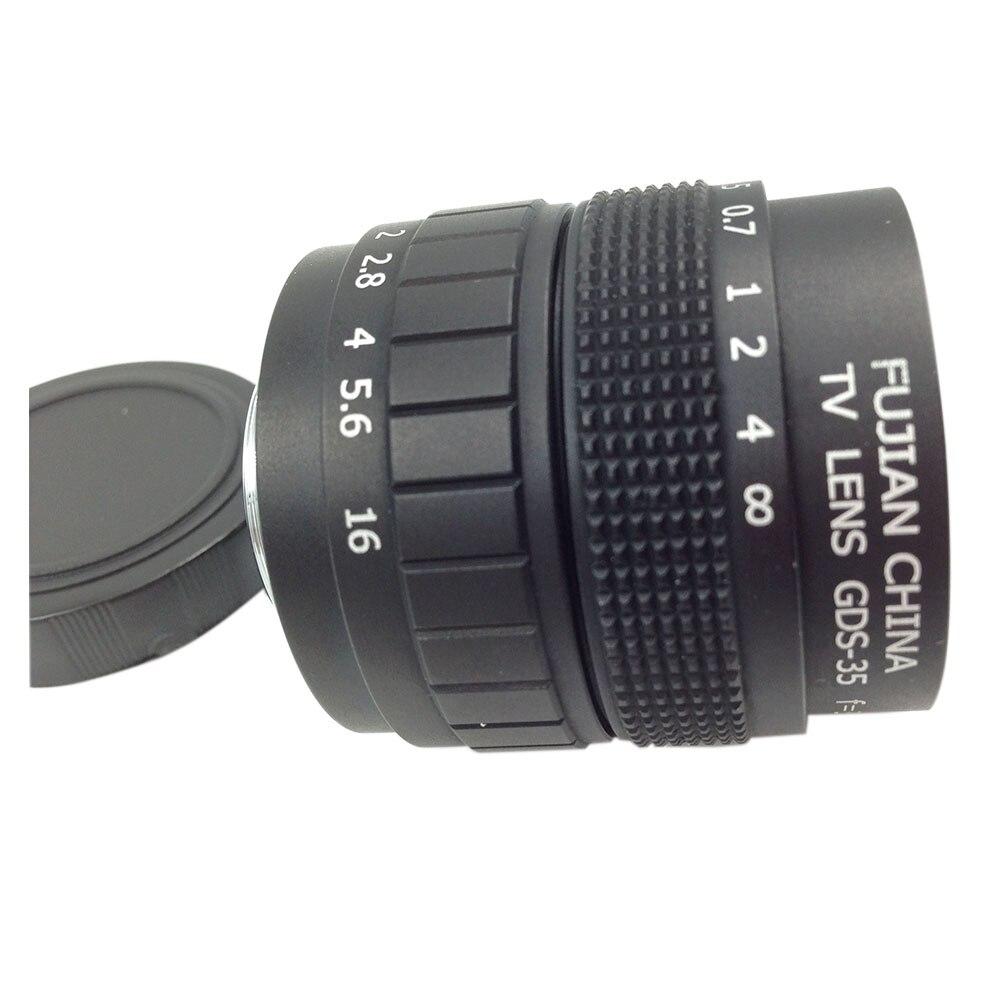 Top deals televisión lente para cámara C montaje 35mm F1.7 en negro