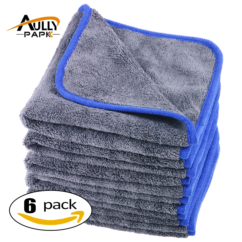800gsm Microfibre Towels Thick Plush Microfiber Car Cleaning Cloths Car Care Wax Polishing Detailing Wash 40CM*40CM