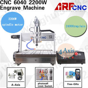 No Tax for Russian CNC 6040 4axis 2.2KW With Sink Desktop CNC Router Engraver Engraving Drilling Milling Machine USB Port