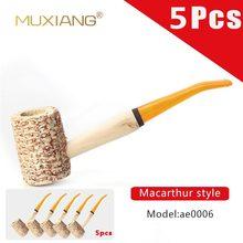 5 قطعة نمط ماك آرثر اليدوية الطبيعية الذرة Cob حامل سيجار التدخين الأنابيب التبغ ae0006