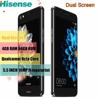Hisense Original A2 Moblie Telefone Octa Núcleo 4 GB 64 GB 5.5 Polegadas Android Smartphone 2.5D Duplo Celular de Tela de impressão digital 4G Telefone
