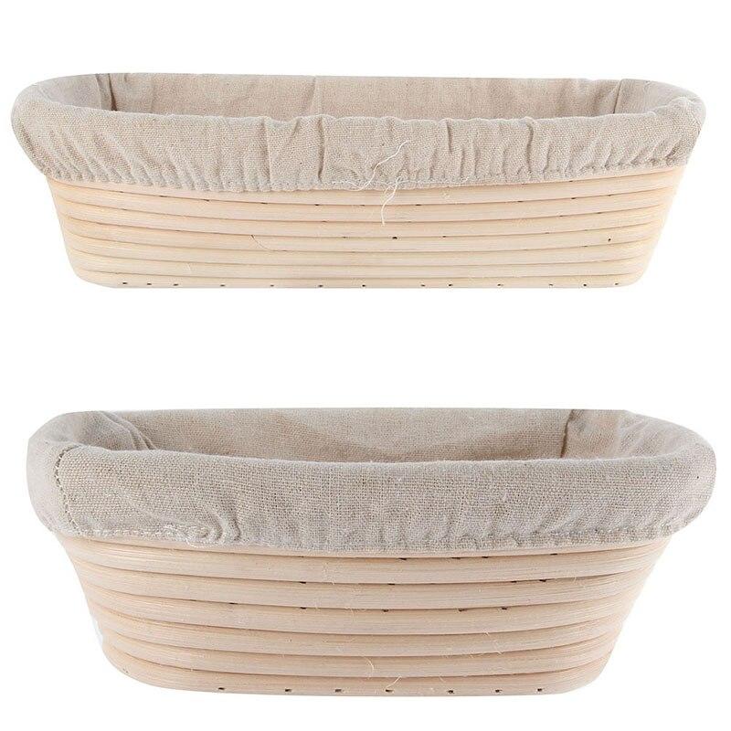 3 Maten Keuken Ovale Deeg Banneton Brotform Dougn Rotan Brood Proofing Proving Baskets Hoge kwaliteit