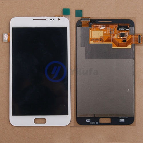 Touch Panel with Frame for Galaxy Note // i9220 // N7000 White ZHANGJIALI JIALIZ Mobile Accessories Screen Replacement LCD Display Color : White