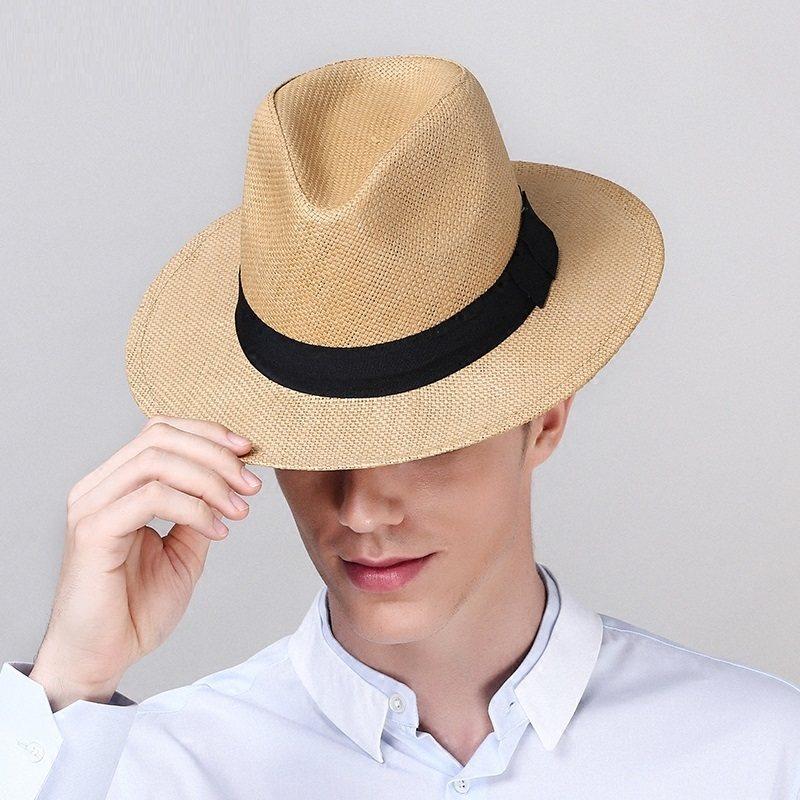 Ráfia Chapéus de Palha De ráfia Mulheres Moda Weave Manual Cap Sol dos  homens Turquesa Decoração a8dd10cb49