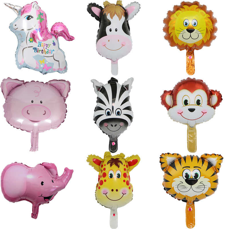 1PC Mini Animal Foil Balloons Kids Classic Toy Inflatable Air Balloon Birthday Party Decoration Baby Shower Wedding DIY Supplies