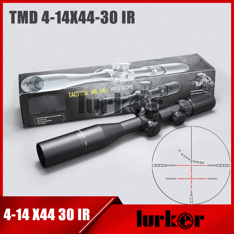 Tactical TMD 4-14X44 SFIR First Focal Plane Scope Side Parallax Glass Etched Mil Reticle Optics Riflescope Fit Airsoft Hunting цена