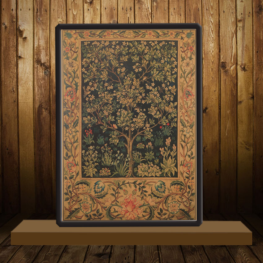 Vintage style tree of life themed poster for bedroom for Decoration 4 life