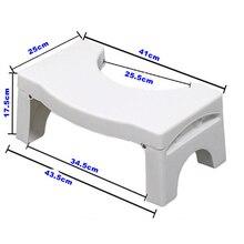 Wielofunkcyjny składany stołek do toalety łazienka nocnik Squat właściwa postawa LXY9